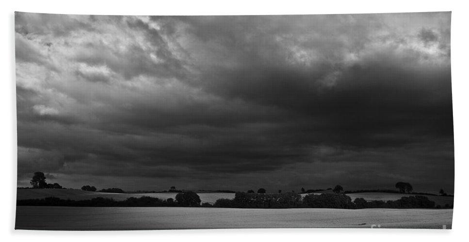 Heiko Beach Towel featuring the photograph Under Dark Sky by Heiko Koehrer-Wagner