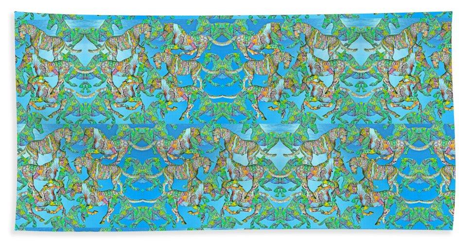Horse Beach Towel featuring the digital art Under The Sea Horses by Betsy Knapp