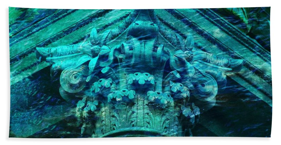 Ancient Architecture Beach Towel featuring the photograph Underwater Ancient Beautiful Creation by Lilia D