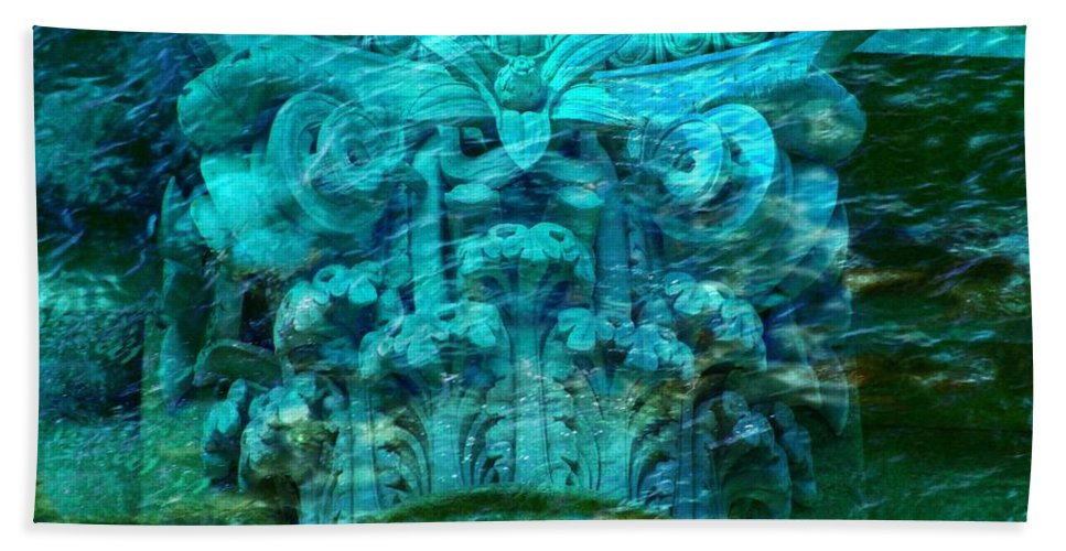 Ancient Architecture Beach Towel featuring the photograph Underwater Beautiful Creation by Lilia D