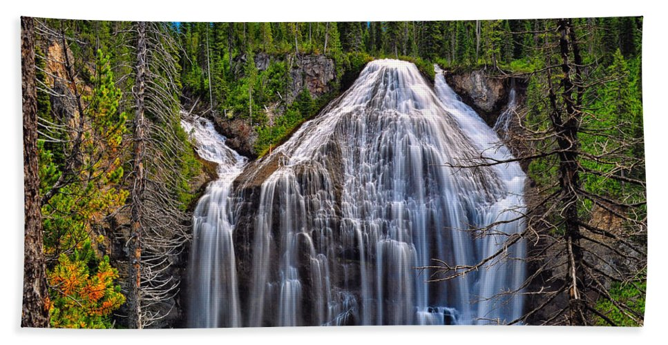 Union Falls Beach Towel featuring the photograph Union Falls by Greg Norrell
