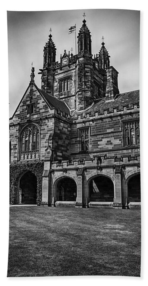 University Of Sydney Quadrangle Beach Towel featuring the photograph University Of Sydney Quadrangle V5 by Douglas Barnard