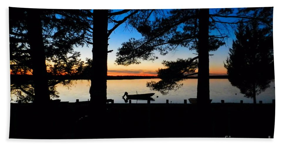 Night Beach Towel featuring the photograph Until Tomorrow by Sharon Woerner