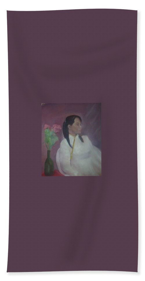 Woman Beach Towel featuring the painting Untitled #2 by Sheila Mashaw
