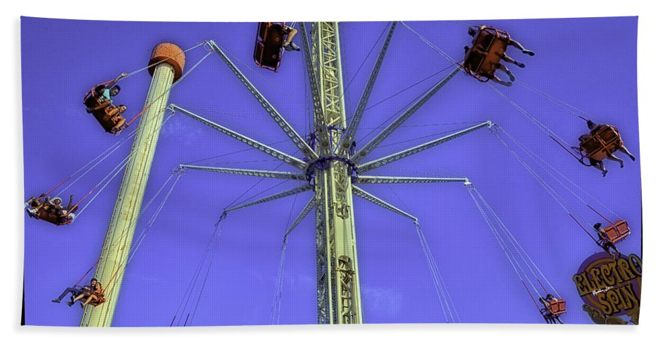 Luna Park Beach Towel featuring the photograph Up Up And Away 2013 - Coney Island - Brooklyn - New York by Madeline Ellis