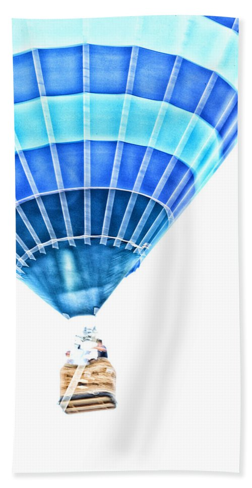 Hot Air Balloon Beach Towel featuring the photograph Up Up And Away by Karol Livote