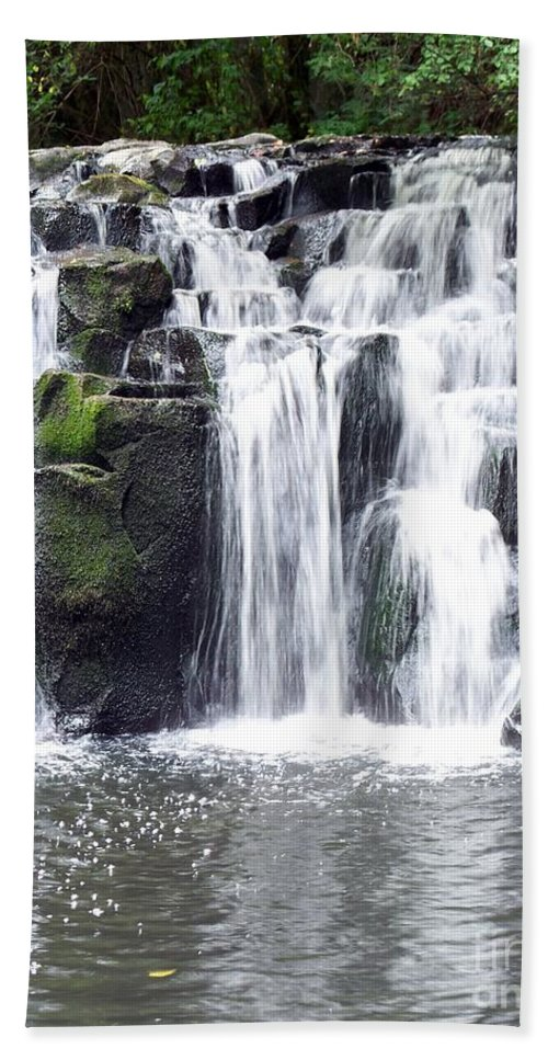 Upper Beaver Falls Beach Towel featuring the photograph Upper Beaver Falls by Chalet Roome-Rigdon