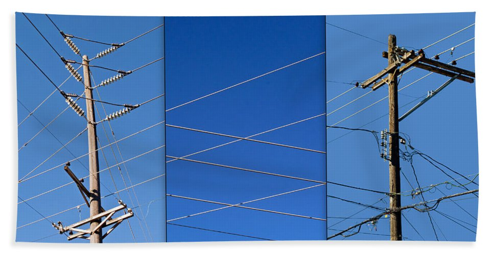 Urban Beach Towel featuring the photograph Urban Electric by Tikvah's Hope