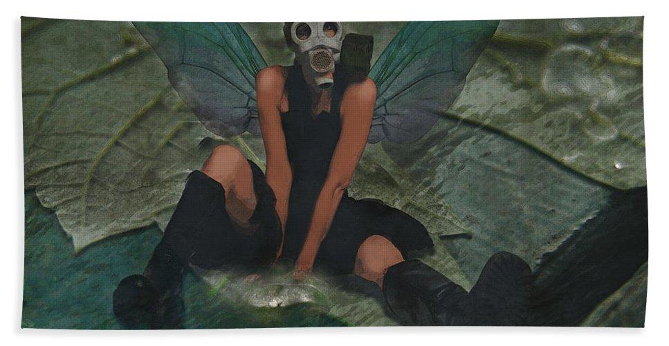 Fairy Beach Towel featuring the digital art Urban Fairy by Galen Valle