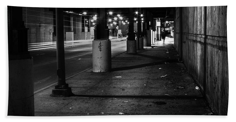 Chicago Beach Towel featuring the photograph Urban Underground by Scott Norris