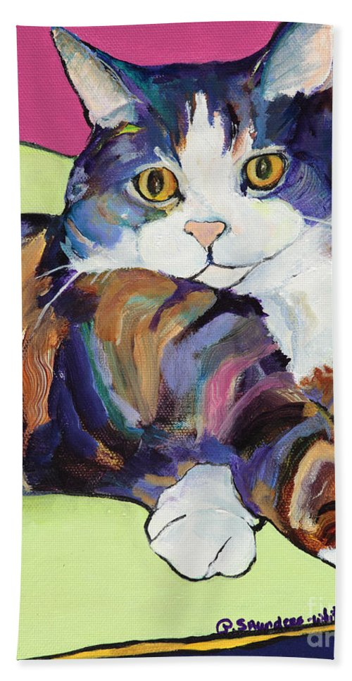 Pat Saunders-white Canvas Prints Beach Towel featuring the painting Ursula by Pat Saunders-White