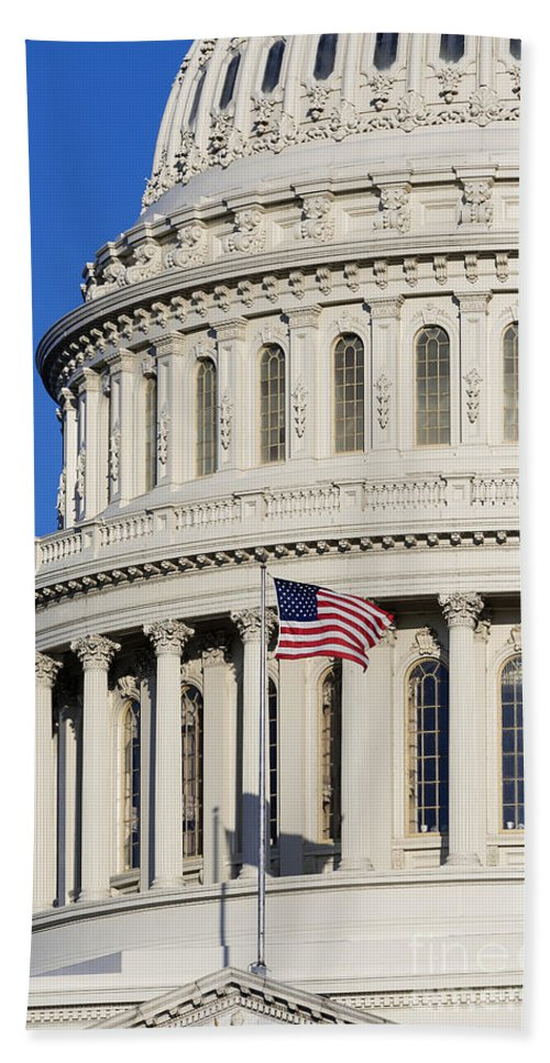 America Beach Towel featuring the photograph Us Capitol Building by John Greim