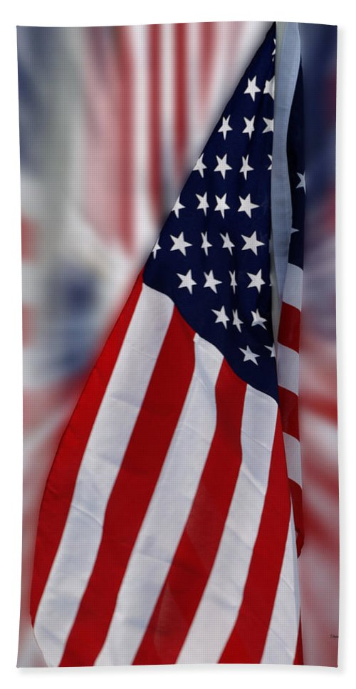 Usa Beach Towel featuring the photograph Usa Flags 03 by Thomas Woolworth