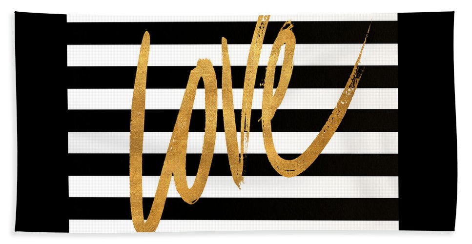 Valentines Beach Towel featuring the digital art Valentines Stripes Iv by South Social Graphics