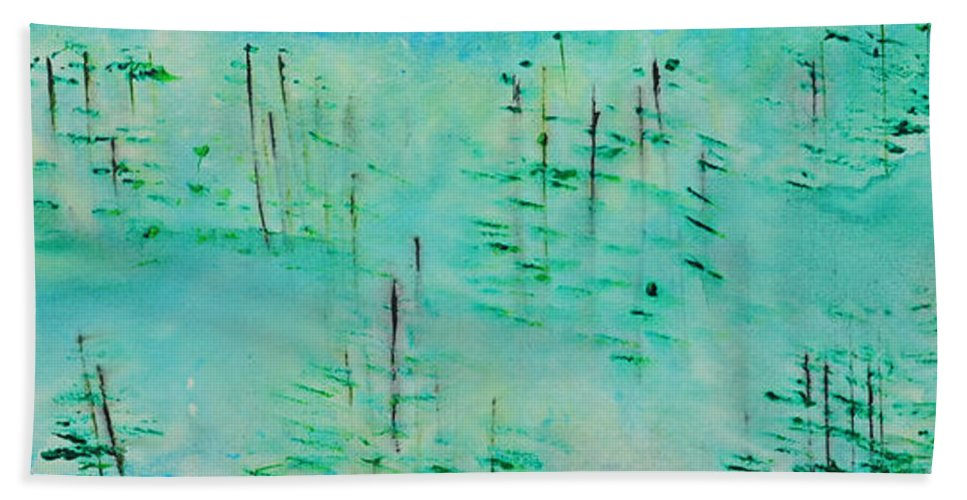 Outdoors Beach Towel featuring the painting Vancouver Island by Paulette B Wright
