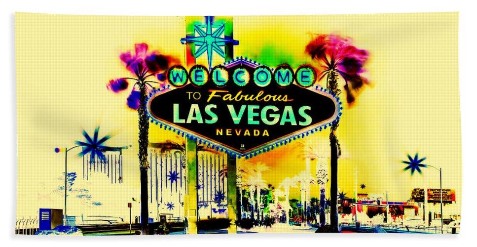 Las Vegas Beach Towel featuring the digital art Vegas Weekends by Az Jackson