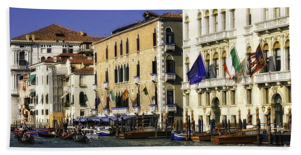 Italy Beach Towel featuring the photograph Venice Buildings by Timothy Hacker