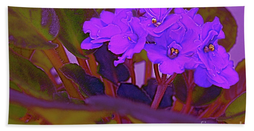 First Star Beach Towel featuring the photograph Very Violets by First Star Art