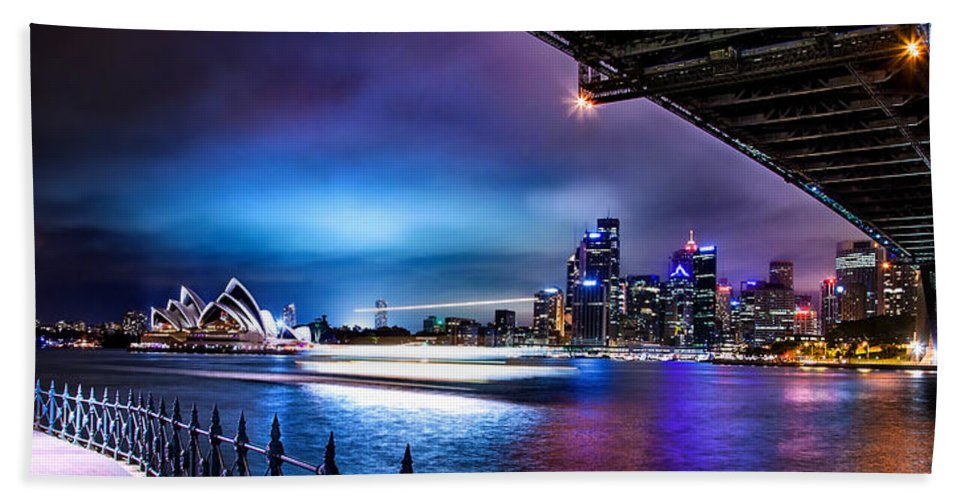 Sydney Beach Towel featuring the photograph Vibrant Sydney Harbour by Az Jackson