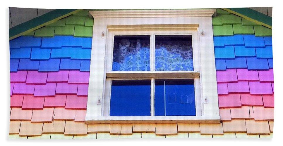 Window Beach Towel featuring the photograph Victorian Rainbow by Ed Weidman