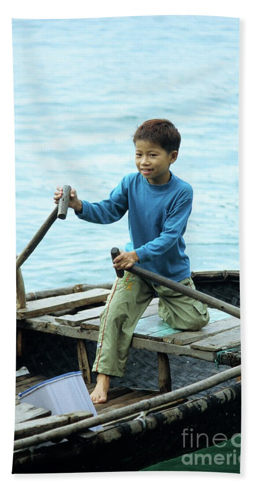 Vietnam Beach Towel featuring the photograph Vietnamese Boy by Rick Piper Photography