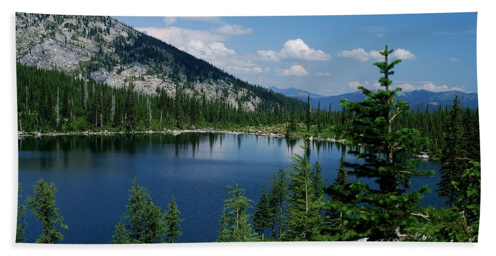 Idaho Beach Towel featuring the photograph View At Roman Nose Peak by Sharon Elliott