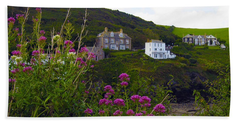 Port Isaac Beach Towel featuring the photograph View From Port Isaac by Kurt Van Wagner