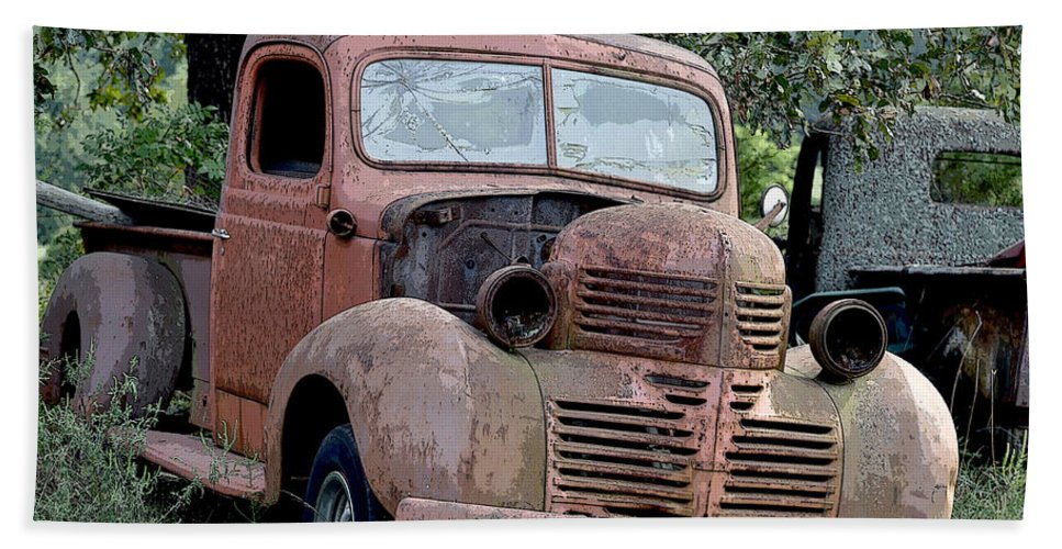 Vintage American Pickup Trucks Color Beach Sheet for Sale by Sally ...