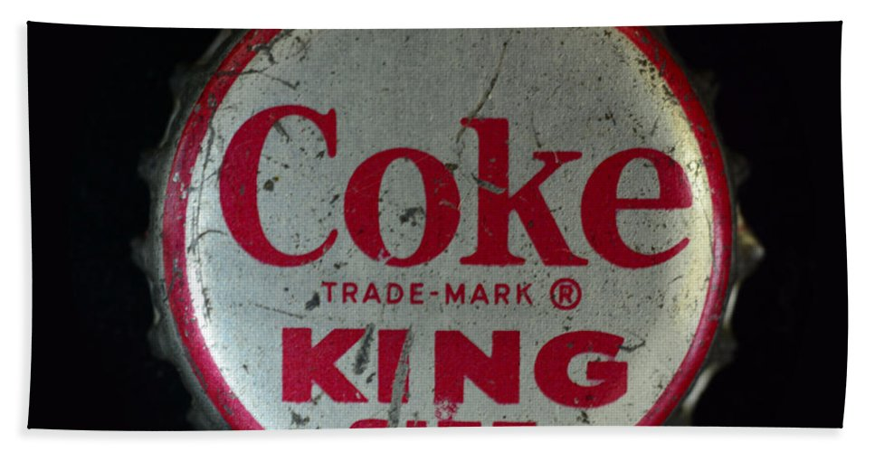 Paul Ward Beach Towel featuring the photograph Vintage Coca Cola Bottle Cap by Paul Ward