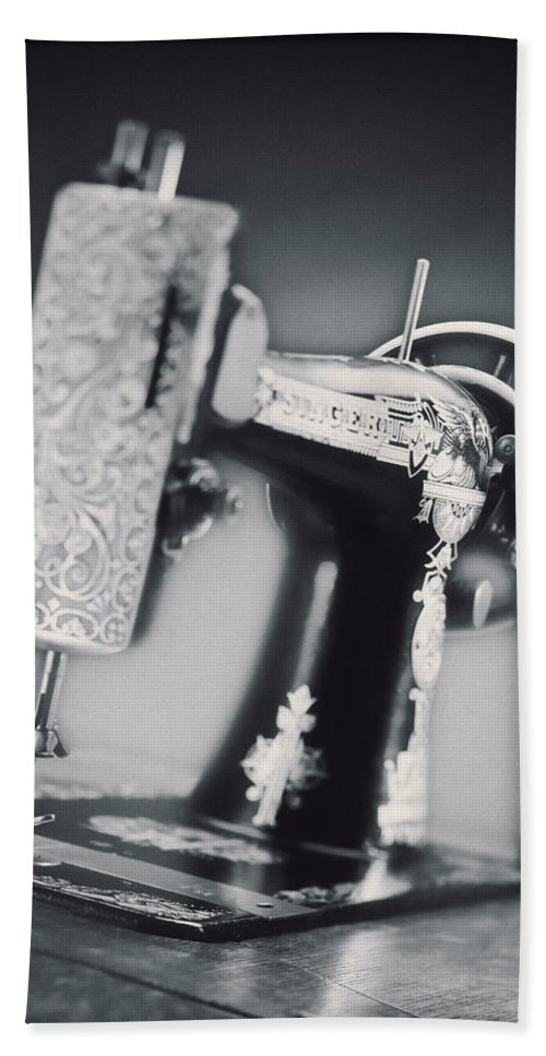 Vintage Beach Towel featuring the photograph Vintage Machine by Kelley King