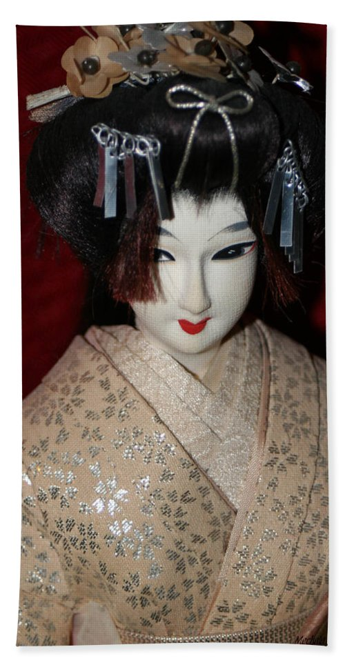 Nishi Doll Beach Towel featuring the photograph Vintage Nishi Doll by Mechala Matthews