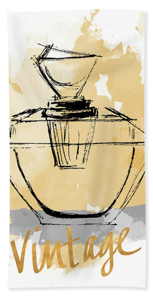 Vintage Beach Towel featuring the painting Vintage Perfume by Lanie Loreth