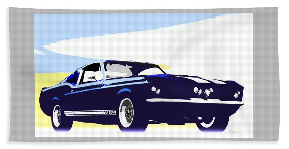 Shelby Beach Towel featuring the photograph Vintage Shelby Gt500 by Bob Orsillo