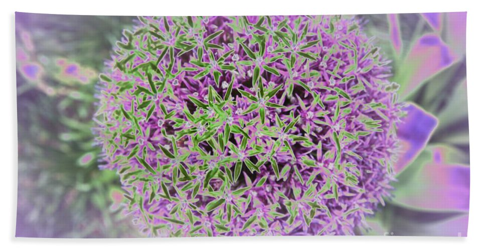 Flower Beach Towel featuring the photograph Violet And Green by Christiane Schulze Art And Photography