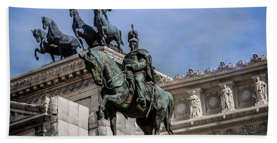 Victorian Beach Towel featuring the photograph Vittorio Emanuele II Monument In Rome by Dany Lison