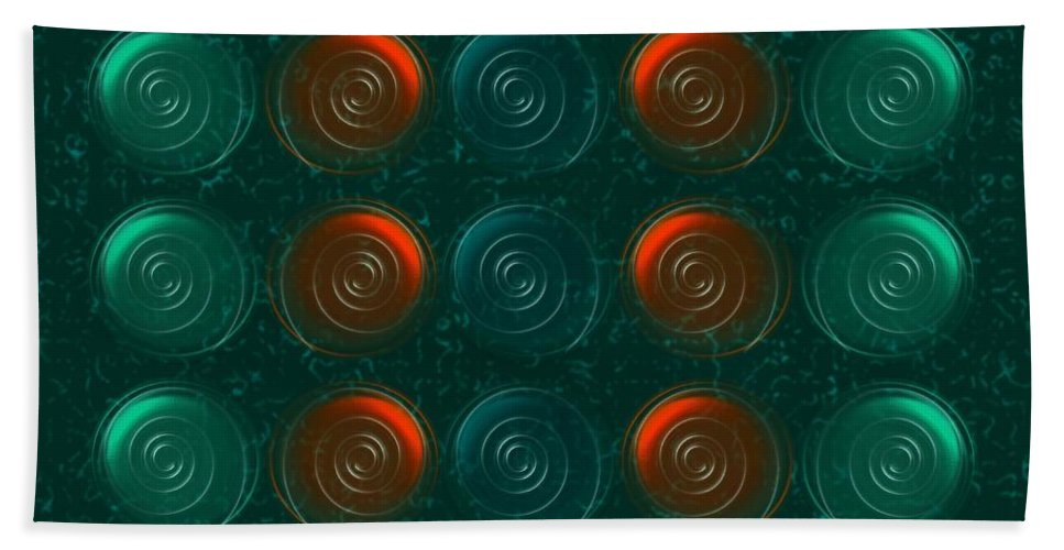 Abstract Beach Towel featuring the digital art Vortices by Anastasiya Malakhova