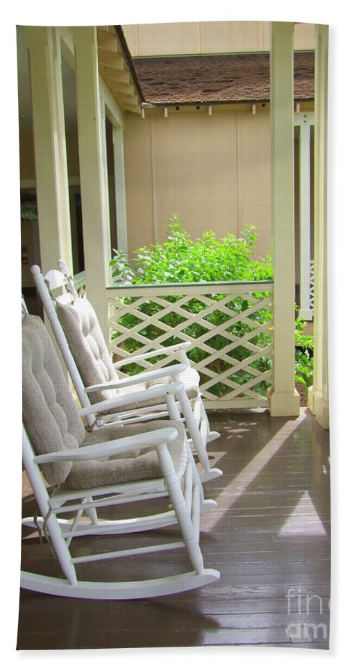 Chairs Beach Towel featuring the photograph Waimea Porch by Mary Deal