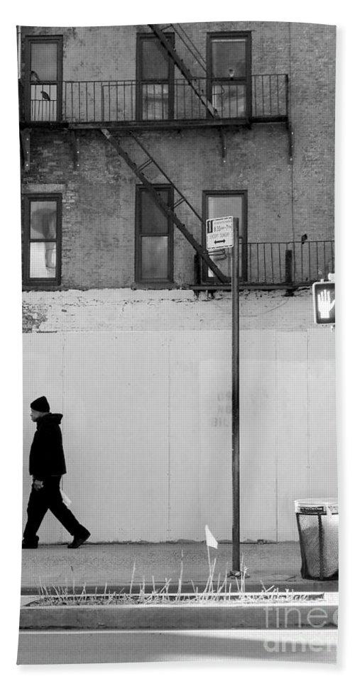 Walk Beach Towel featuring the photograph Walk Walk. New York. by Miriam Danar