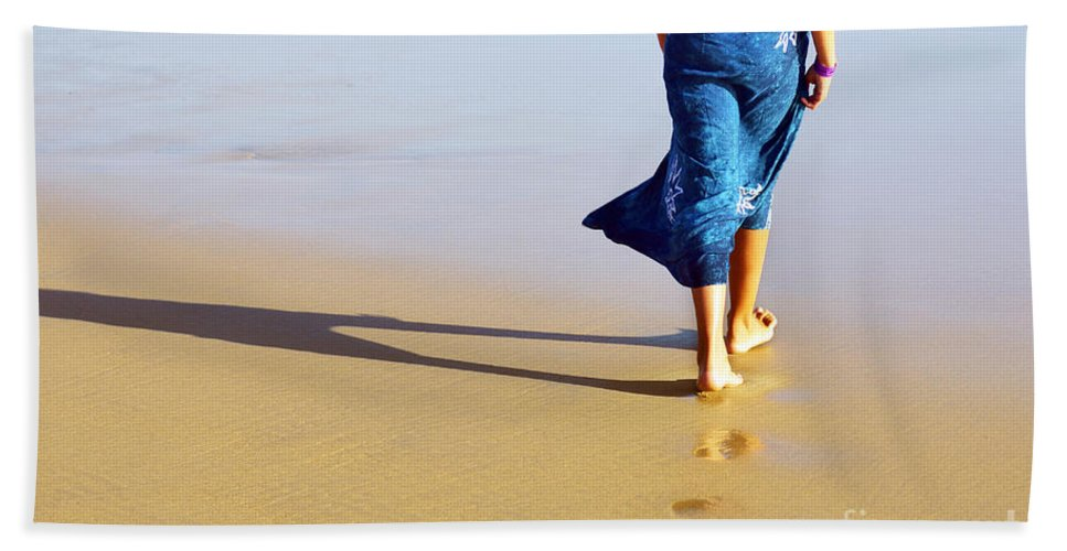 Activity Beach Towel featuring the photograph Walking On The Beach by Carlos Caetano
