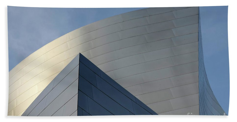 Disney Beach Towel featuring the photograph Walt Disney Concert Hall 3 by Bob Christopher