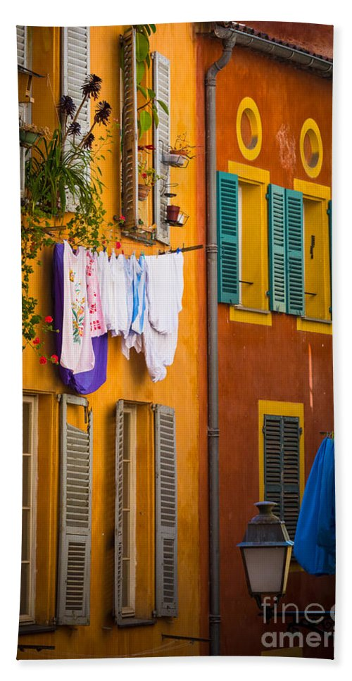 Cote D'azur Beach Towel featuring the photograph Wash Day by Inge Johnsson