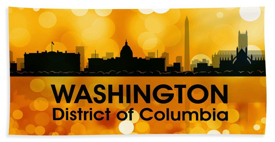Washington Beach Towel featuring the mixed media Washington Dc 3 by Angelina Vick