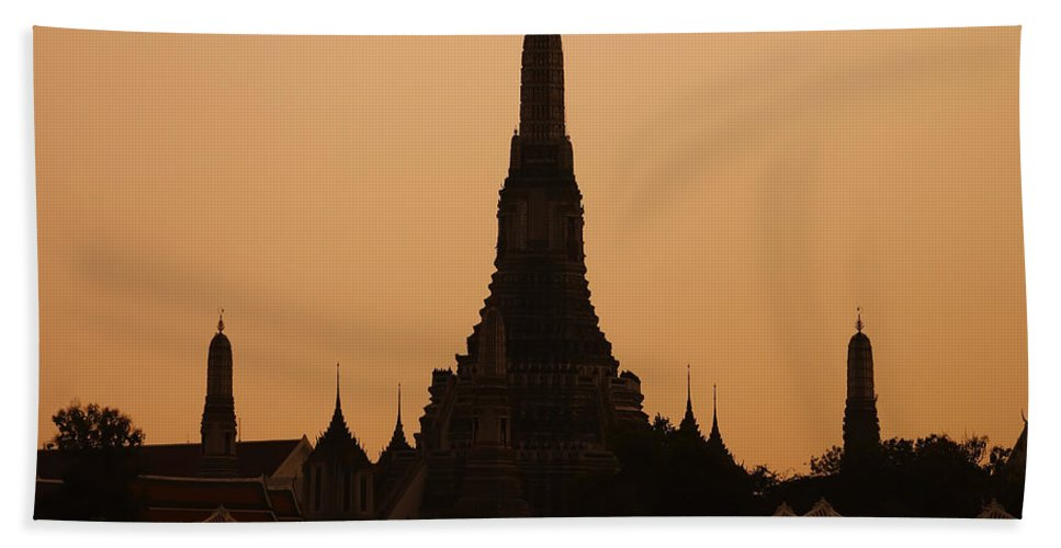 3scape Photos Beach Towel featuring the photograph Wat Arun by Adam Romanowicz