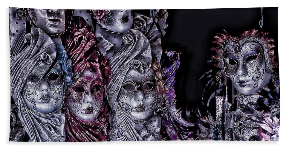 Artistic Photography Beach Towel featuring the photograph Watching You Venice Italy by Tom Prendergast