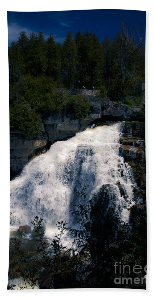 Water Falls Beach Towel featuring the photograph Water Falls by Ronald Grogan