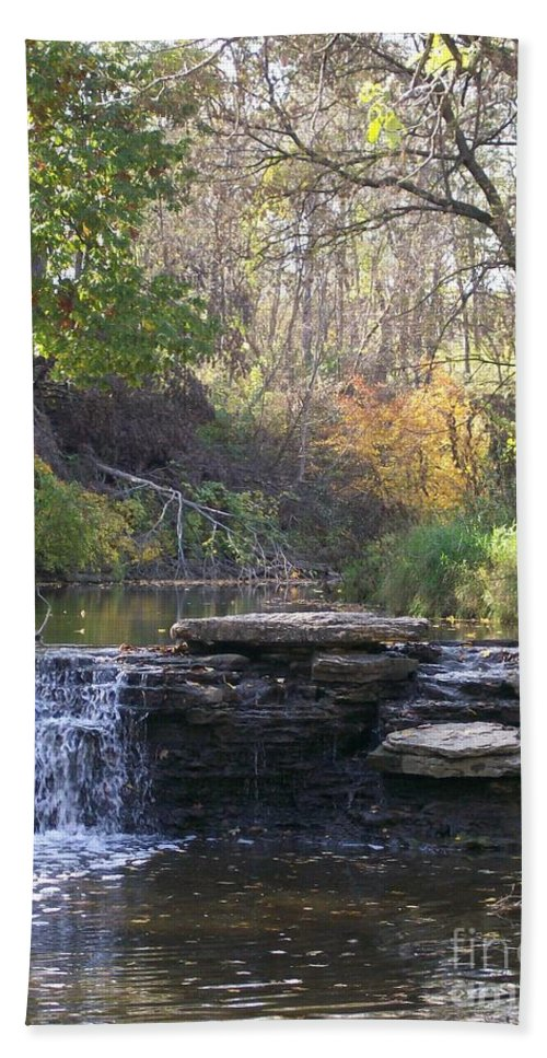 Water Beach Towel featuring the photograph Waterfall Autumn by Laurie Eve Loftin