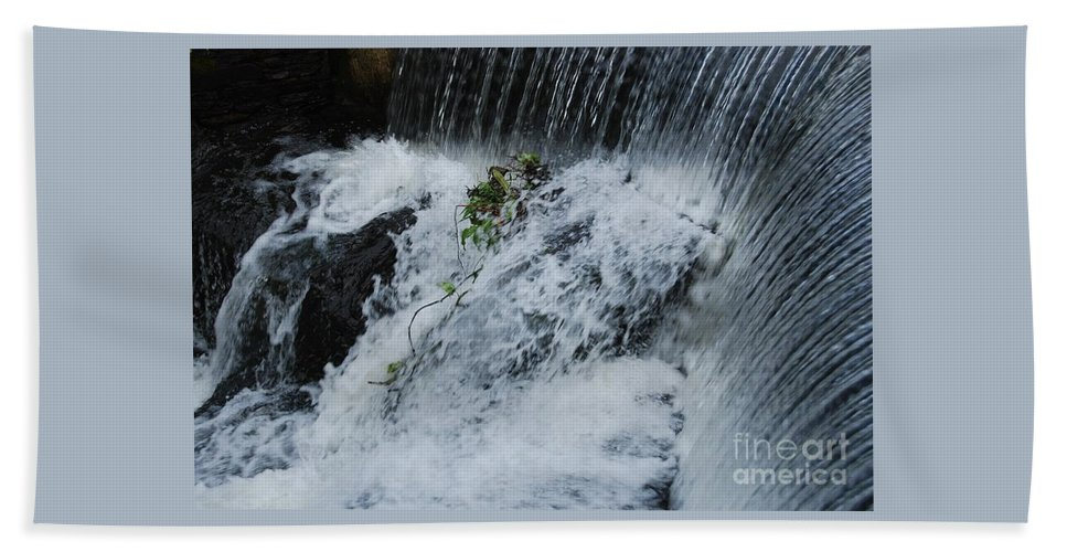 Waterfall Art Nature Ireland Scenic Moving Water Outdoors Bantry Travel Rushing Water Plant White Water Serenity Movement Metal Frame Recommended Canvas Print Poster Print Available On Greeting Cards Shower Invitation Cards T Shirts Mugs Pouches Weekender Tote Bags Phone Cases Throw Pillows Beach Towels And Tote Bags Beach Towel featuring the photograph A Waterfall In Bantry, Ireland by Marcus Dagan