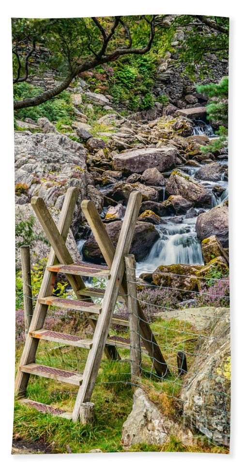 Waterfall Beach Towel featuring the photograph Waterfall Way by Adrian Evans
