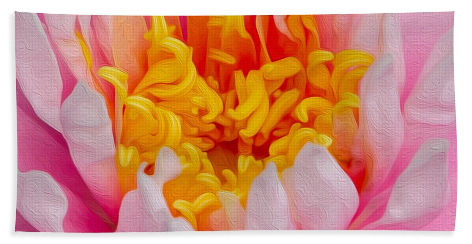 Beach Towel featuring the photograph Waterlilly by Kathryn Potempski