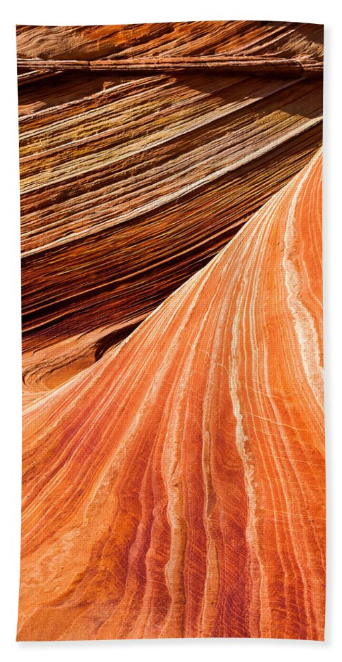 Wave Lines Beach Towel featuring the photograph Wave Lines by Chad Dutson